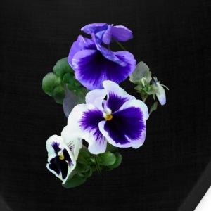 Three Purple Pansies In A Row Caps - Bandana