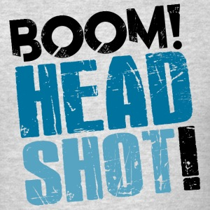 Boom Headshot! Blue - Men's T-Shirt