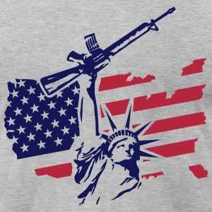 COMBAT STATUE USA T-Shirts - Men's T-Shirt by American Apparel