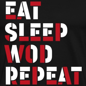 Eat Sleep WOD Repeat - Men's Premium T-Shirt