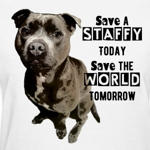 Save A Staffy - Women's T-Shirt