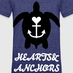 Hearts&Anchors-Sea Line: Sea Turtle - Unisex Tri-Blend T-Shirt by American Apparel