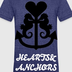 Hearts&Anchors-Sea Line: Squid - Unisex Tri-Blend T-Shirt by American Apparel