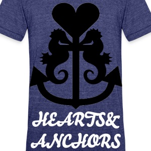 Hearts&Anchors-Sea Line: Sea Horse - Unisex Tri-Blend T-Shirt by American Apparel