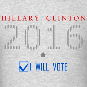 Hillary Clinton - I Will Vote T-shirt - Men's T-Shirt