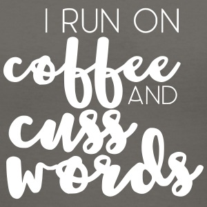 I Run on Coffee and Cuss Words - Women's V-Neck T-Shirt