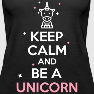 keep calm unicorn Tanks - Women's Premium Tank Top