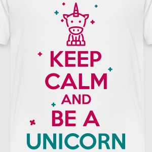 keep calm unicorn Kids' Shirts - Kids' Premium T-Shirt