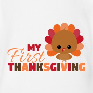 My First Thanksgiving Baby Bodysuits - Baby Short Sleeve One Piece