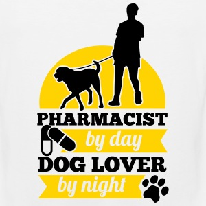 PHARMACIST BY DAY DOG LOVER BY NIGHT Sportswear - Men's Premium Tank