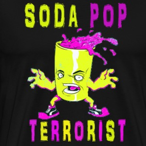 Soda Pop Terrorist - Men's Premium T-Shirt