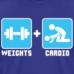 Weights and Cardio T-Shirts - Men's Premium T-Shirt