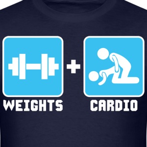 Weights and Cardio T-Shirts - Men's T-Shirt