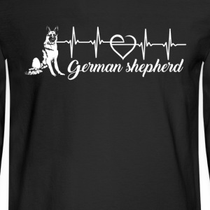 German Shepherd Heartbeat - Men's Long Sleeve T-Shirt
