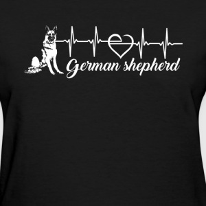 German Shepherd Heartbeat - Women's T-Shirt