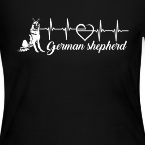 German Shepherd Heartbeat - Women's Long Sleeve Jersey T-Shirt