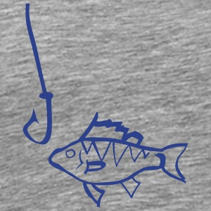 Graffiti Fish and hook - Men's Premium T-Shirt