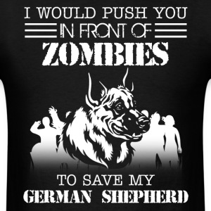 Zombies German Shepherd - Men's T-Shirt