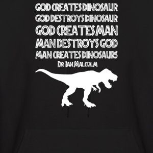 Man Creates Dinosaur - Men's Hoodie