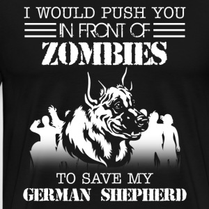Zombies German Shepherd - Men's Premium T-Shirt