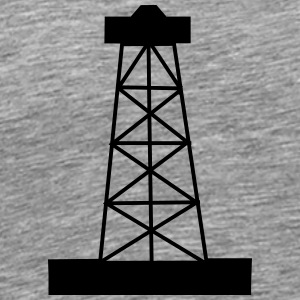 oil or gas well - Men's Premium T-Shirt