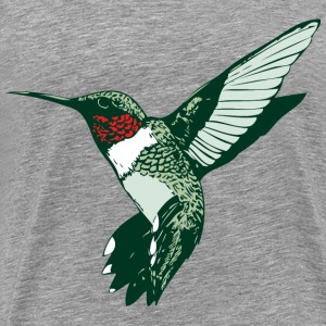 Rubythroated Hummingbird - Men's Premium T-Shirt