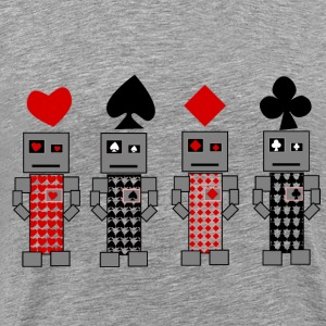 Robot Cards - Men's Premium T-Shirt