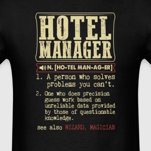 Hotel Manager Badass Dictionary Term T-Shirt T-Shirts - Men's T-Shirt