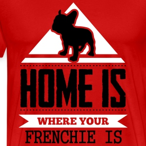 home is where frenchi is T-Shirts - Men's Premium T-Shirt