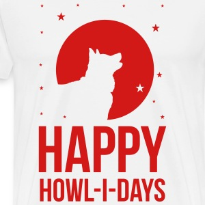 HAPPY HOWL-I-DAYS T-Shirts - Men's Premium T-Shirt
