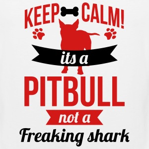 Keep calm a pitbull is not a shark Sportswear - Men's Premium Tank