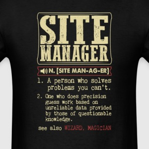 Site Manager Badass Dictionary Term T-Shirt T-Shirts - Men's T-Shirt