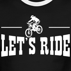 Lets Ride MTB T-Shirts - Men's Ringer T-Shirt