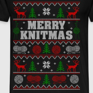 Christmas gift for Kniter - Merry Knitmas - Men's Premium T-Shirt