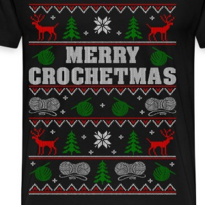 Gift for Crochet lover - Merry Crochetmas - Men's Premium T-Shirt