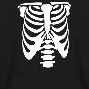 Rib Cage Body Skeleton Halloween Cool Awesome - Men's Hoodie