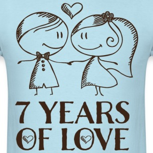 7th Anniversary 7 Years T-Shirts - Men's T-Shirt