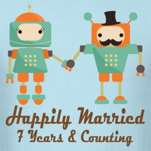 7th Wedding Anniversary T-Shirts - Men's T-Shirt