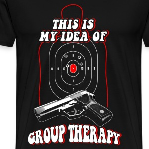 Shooter - This is my idea of Group therapy - Men's Premium T-Shirt