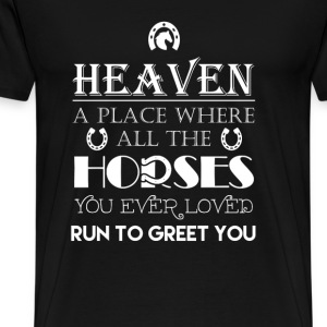 Horse - Horse lovers heaven awesome t-shirt - Men's Premium T-Shirt
