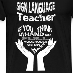 Sign language teacher - Awesome teacher t-shirt - Men's Premium T-Shirt