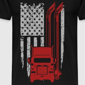 Trucker - Cool Flag t-shirt for american trucker - Men's Premium T-Shirt