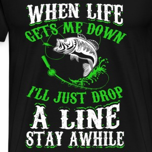Fisher - When life gets me down I go fishing tee - Men's Premium T-Shirt