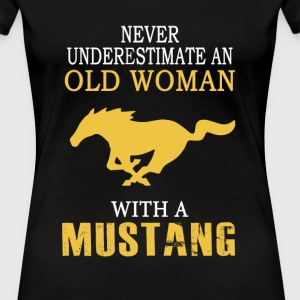 Mustang - An old woman with a mustang t-shirt - Women's Premium T-Shirt