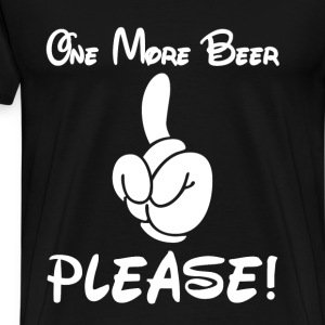 Beer drinker - One more beer, please! - Men's Premium T-Shirt
