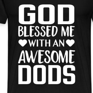 Dog lover - God blessed me with an awesome dogs - Men's Premium T-Shirt
