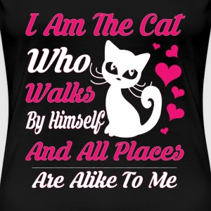 Cats lover - All places are alike to me - Women's Premium T-Shirt