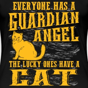 Cat lover - Everyone has a guardian angel - Women's Premium T-Shirt