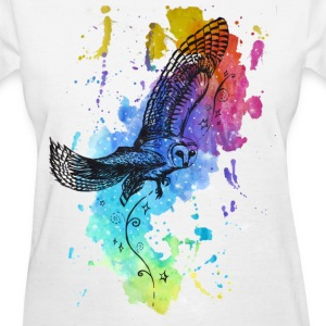 Galaxy Owl - Women's T-Shirt