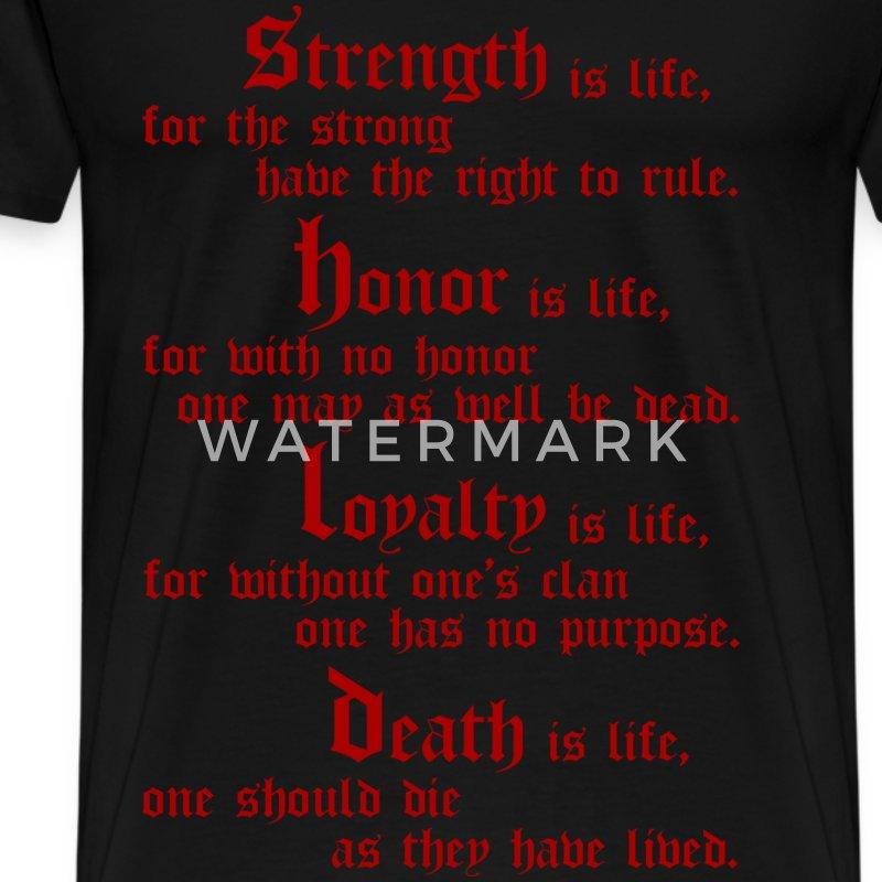 Mandalorian Code Strength Honor Loyalty Death T Shirt